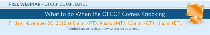What to do When the OFCCP Comes Knocking